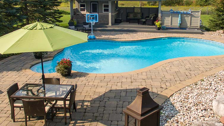 Wonderful ... For A Stone Interlock Patio Or A New Deck To Breathe Some Life Into  Your Backyard, Barrie Pool U0026 Patiou0027s Custom Deck And Patio Specialists Can  Help.